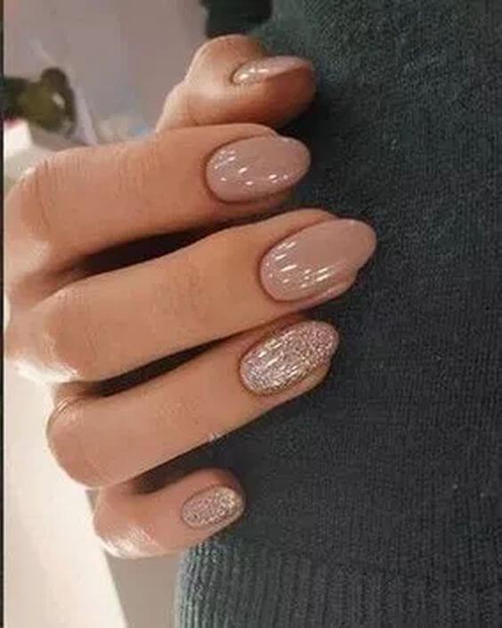 beige acrylic nail designs 2019