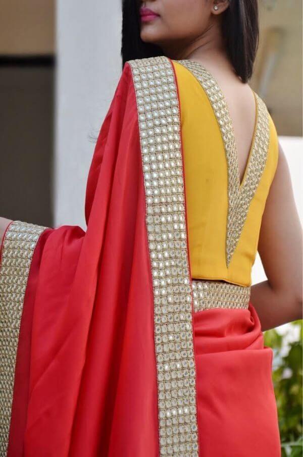 border saree blouse design