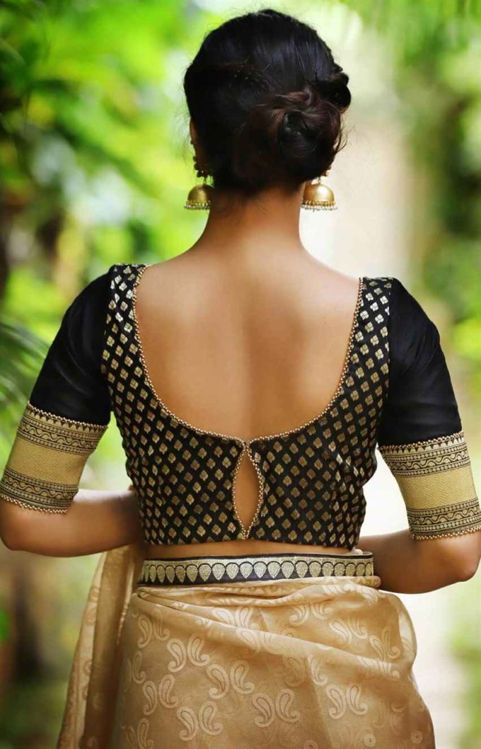 brocade blouse back designs
