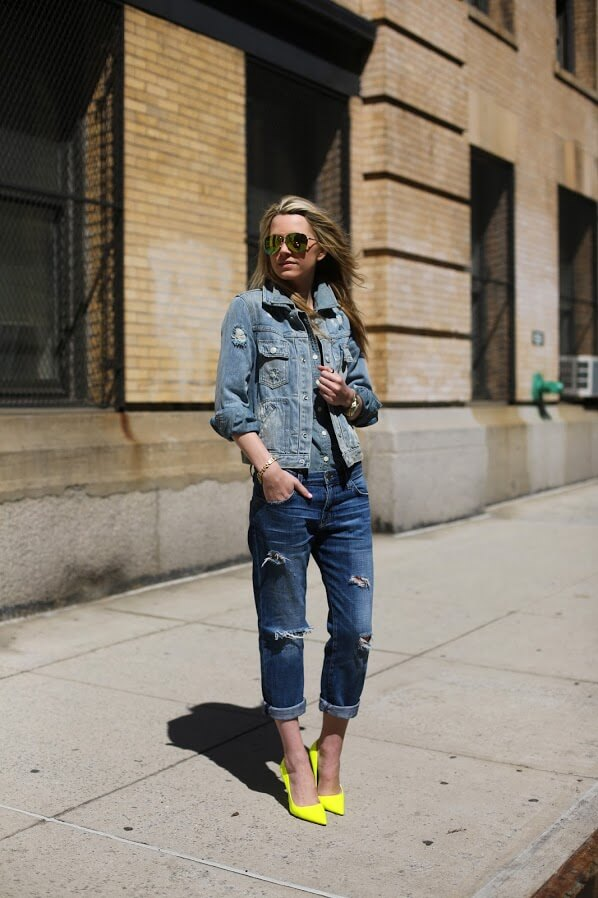denim outfit ideas for school