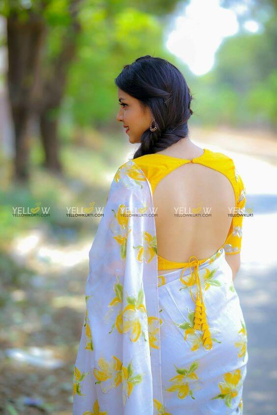 latest blouse back designs