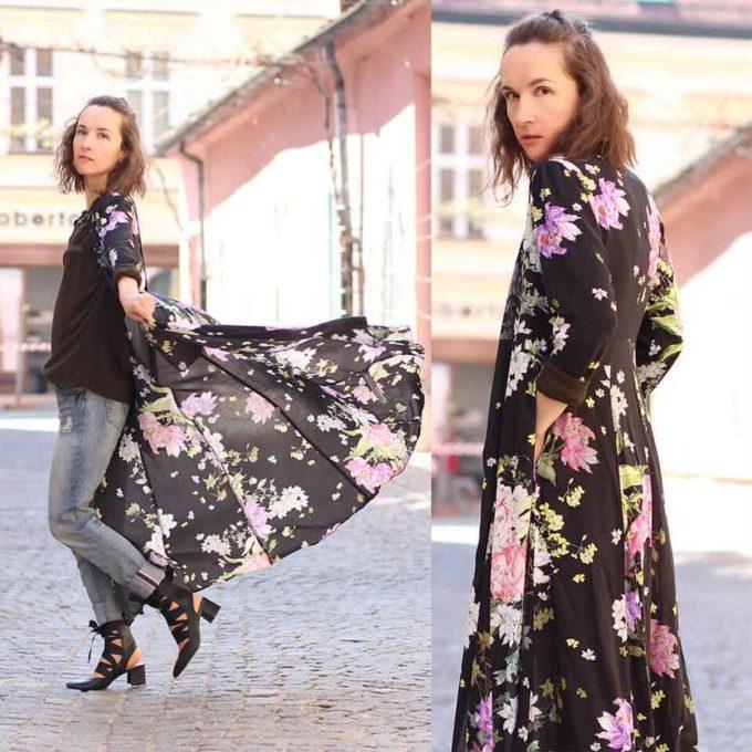 maxi shirt dress outfit ideas for school