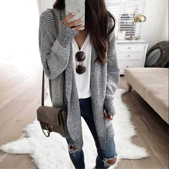 oversized cardigan sweater outfit ideas