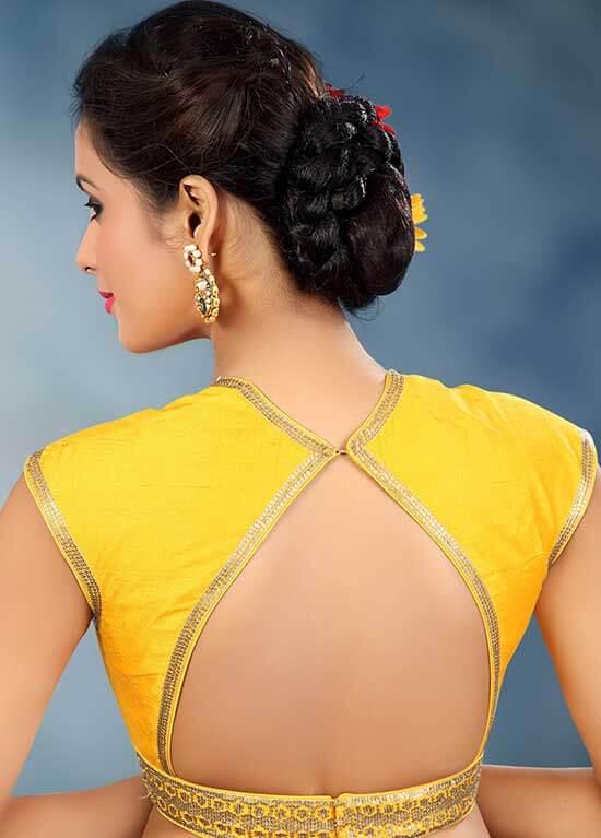 triangle back hook blouse design