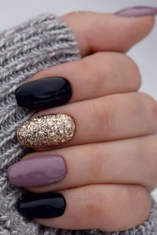 winter acrylic coffin nails art