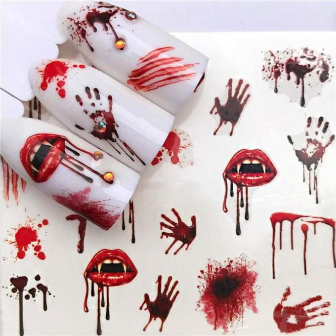 bloody vampire nail decals