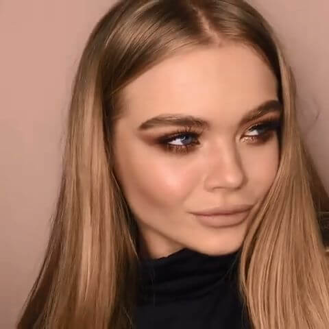 bold eye makeup looks with black outfit