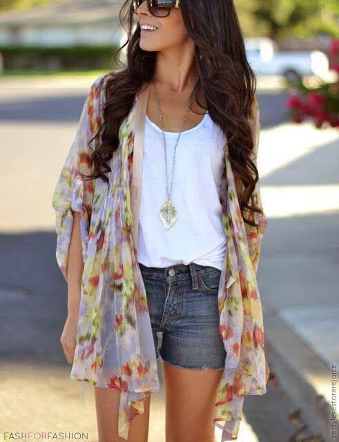 floral kimono outfit ideas