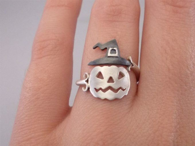 halloween pumpkin ring jewelry
