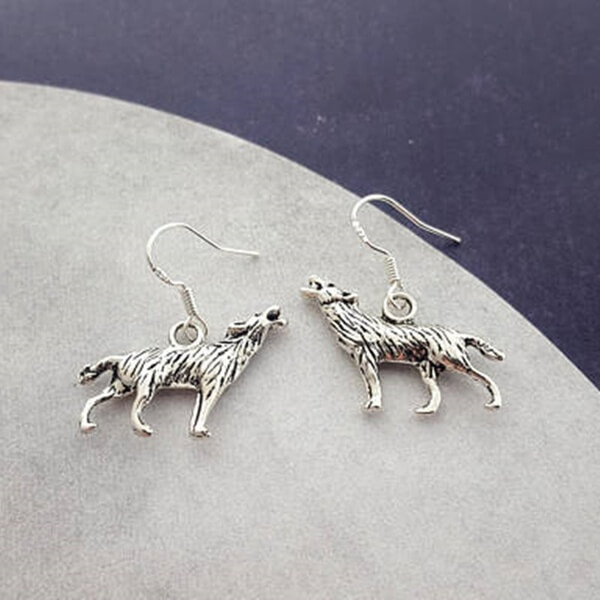 halloween werewolf earrings