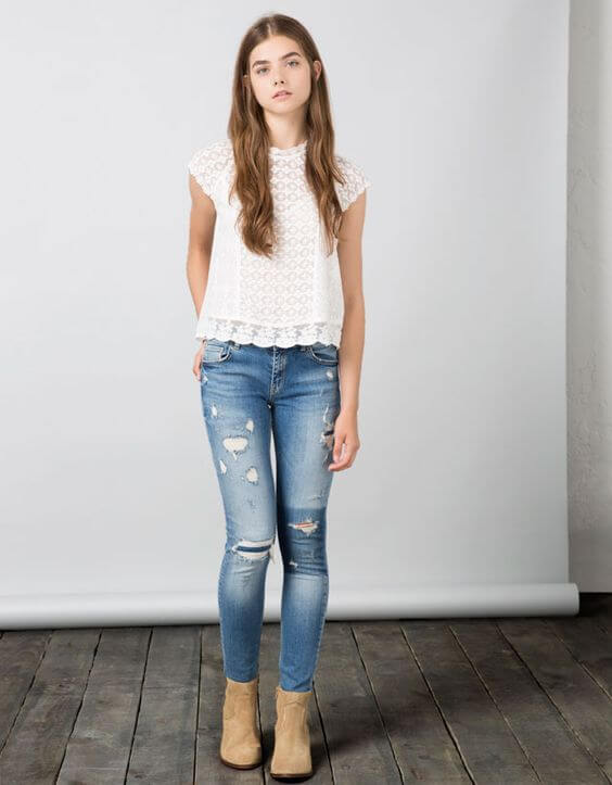 lace tops outfit ideas