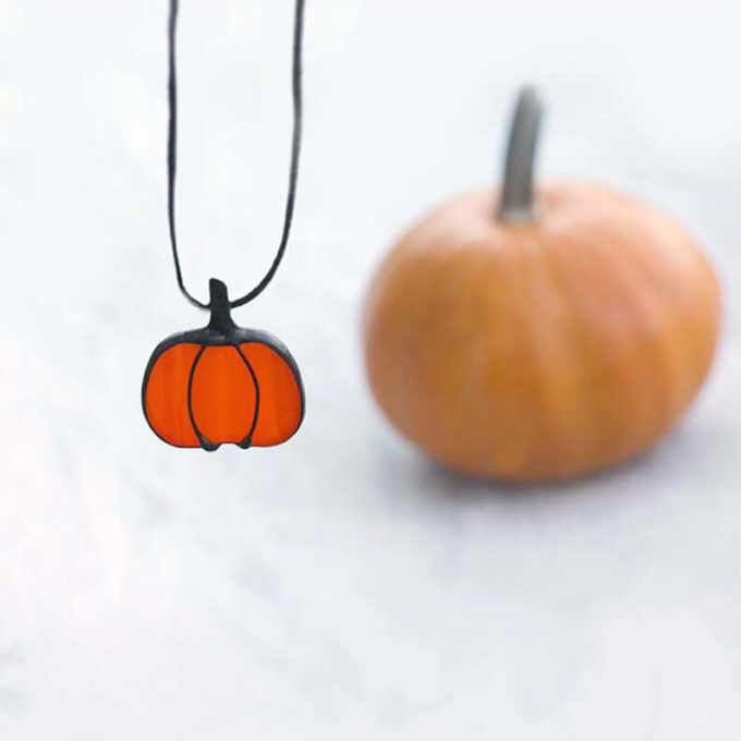 pumpkin necklace ornament jewelry