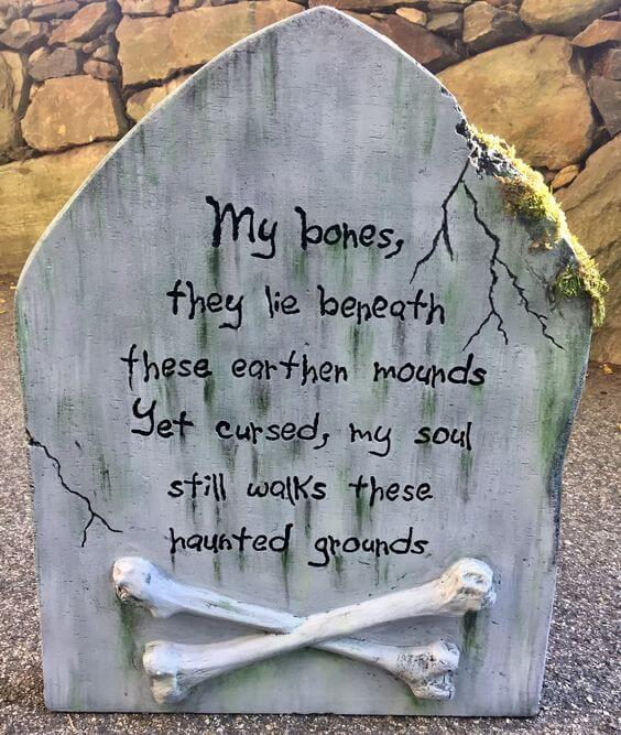 tombstone sayings for halloween