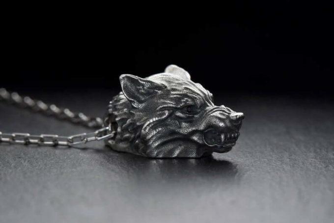 wolf necklace Jewelry
