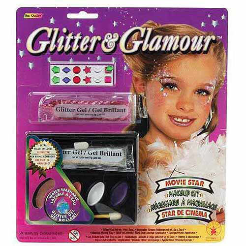 Glitter Make-Up Halloween Costume Accessory Kit