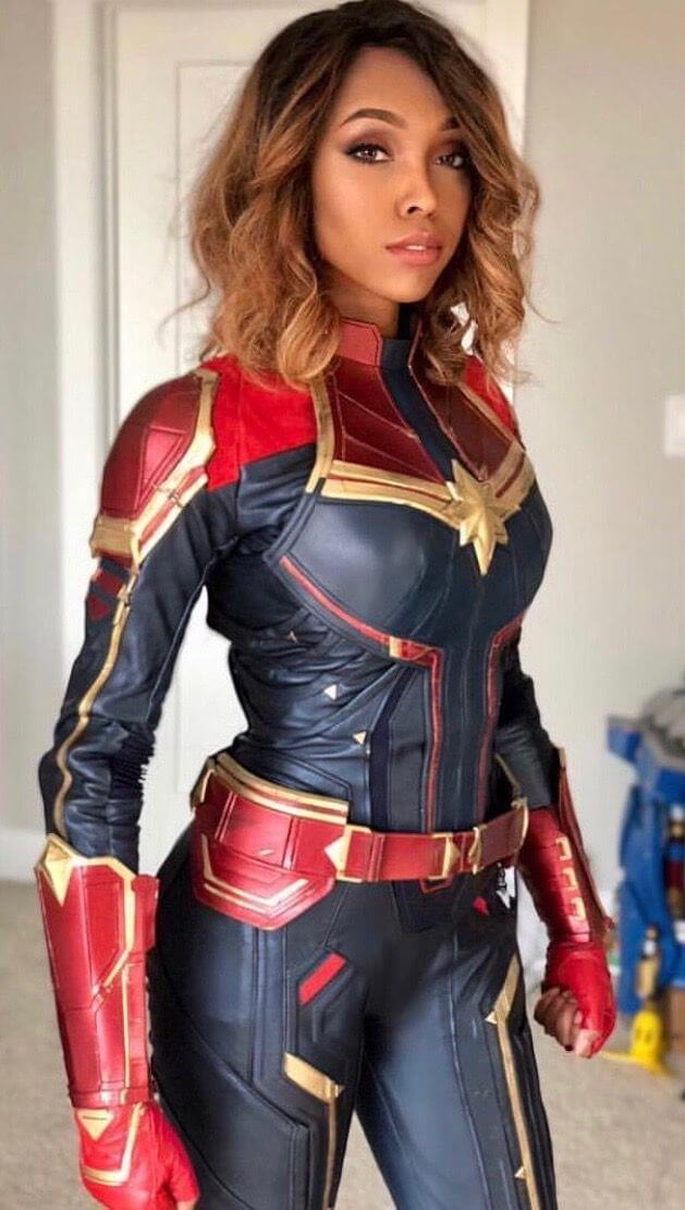 black captain marvel cosplay