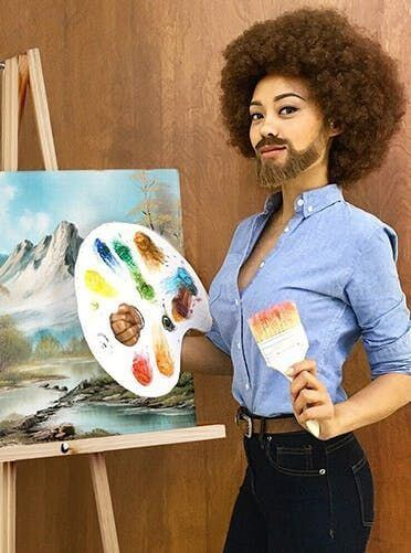 bob ross costume ideas