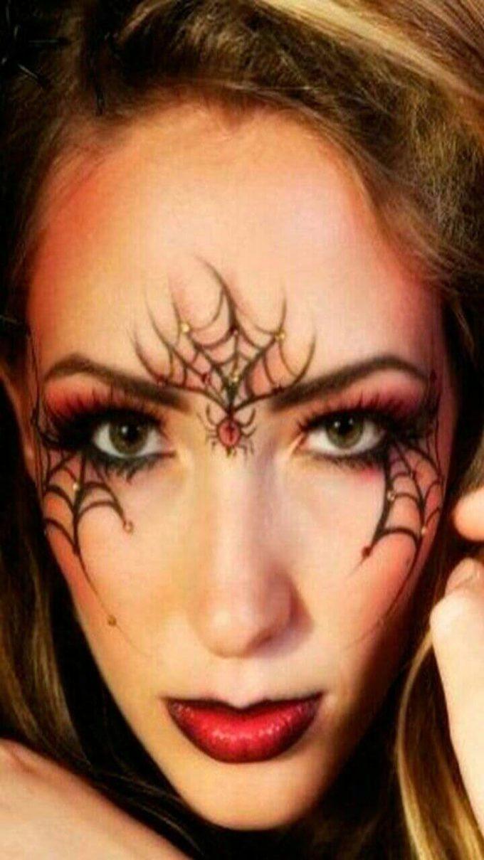 cute spider makeup ideas for halloween