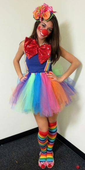 diy halloween clown costume ideas for girls