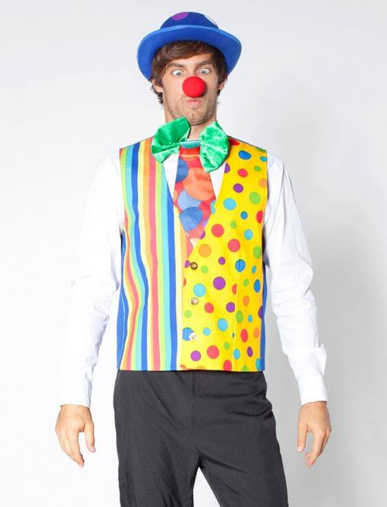 diy halloween clown costume ideas for men