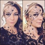 halloween spider makeup
