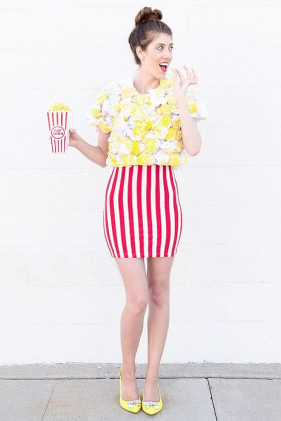 diy popcorn halloween costume ideas for women