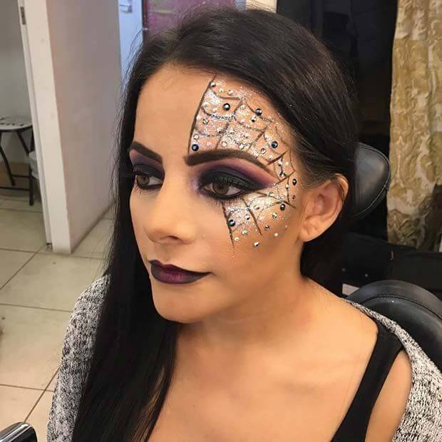 halloween glitter makeup ideas 2019