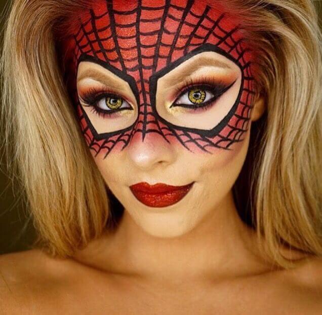 halloween spider-woman face paint
