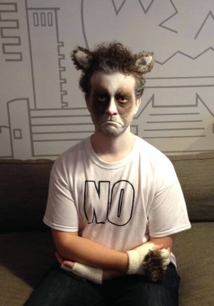 man's grumpy cat face paint ideas for adults