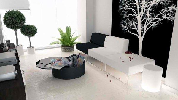 modern black n white interior designs