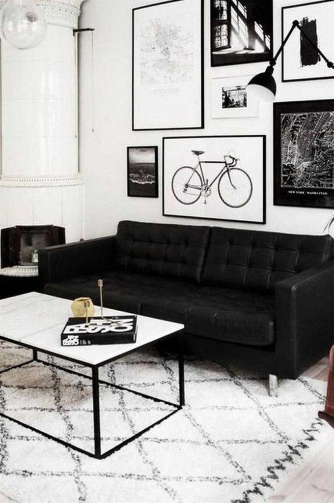 modern home black and white room decor