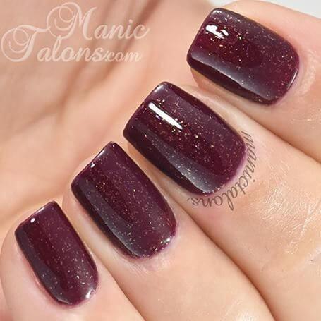 plum gel nail color ideas