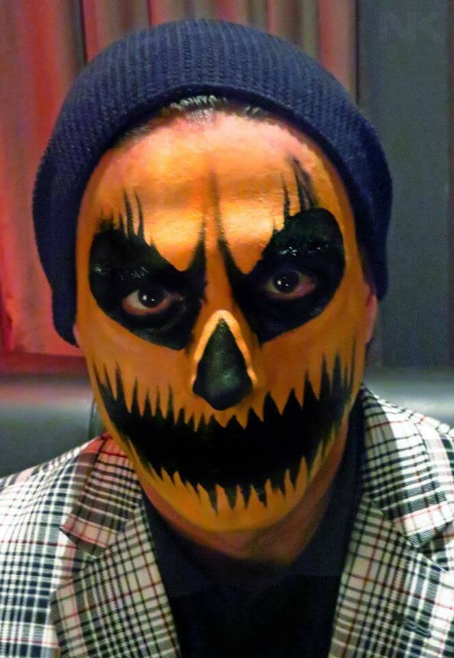 scary pumpkin face paint ideas for men