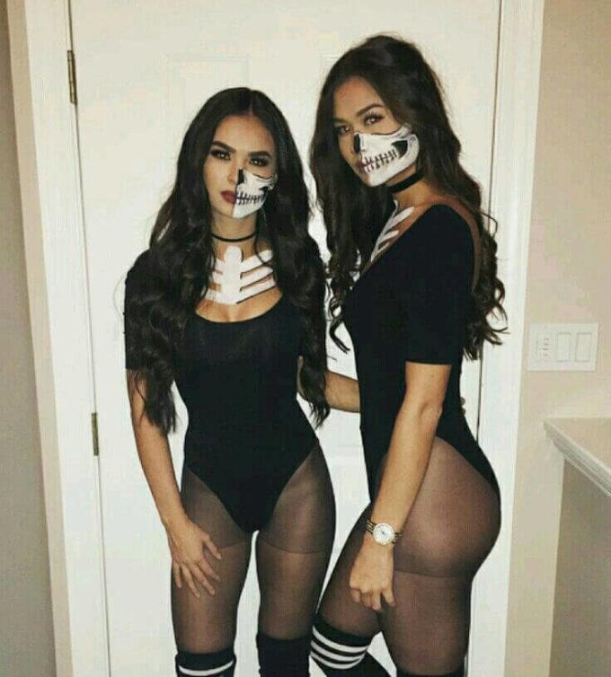 sexy skeleton halloween costume for girls