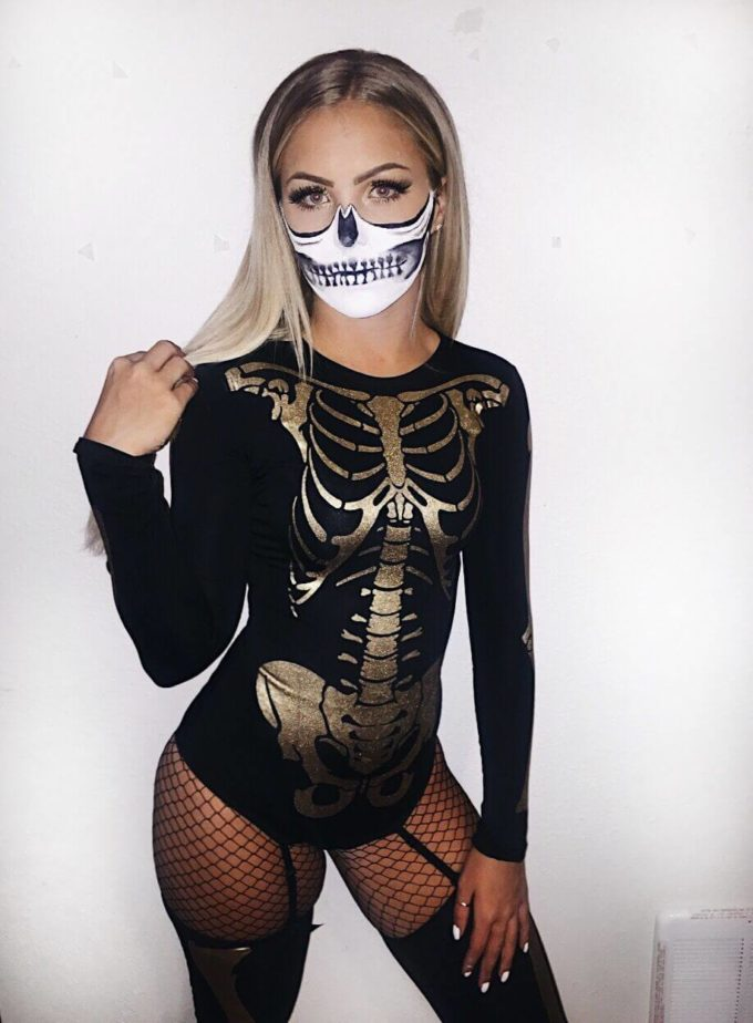skeleton college halloween costume