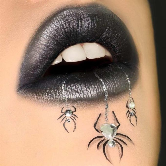 spooky spider face makeup designs