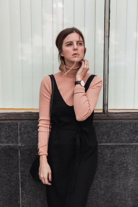 turtleneck dress outfit