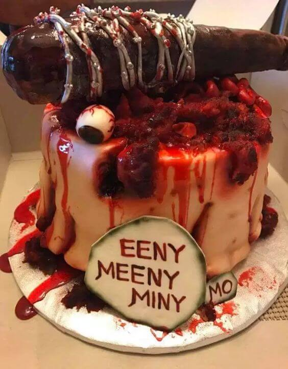 walking dead halloween wedding cake