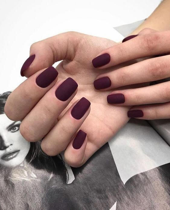 winter dark color nail designs