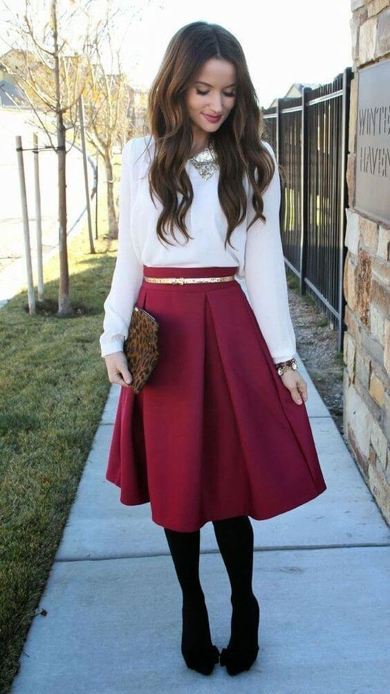 christmas skirt outfit ideas for chruch