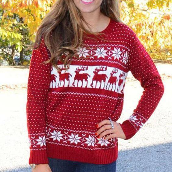 christmas sweater outfit ideas for teen girls