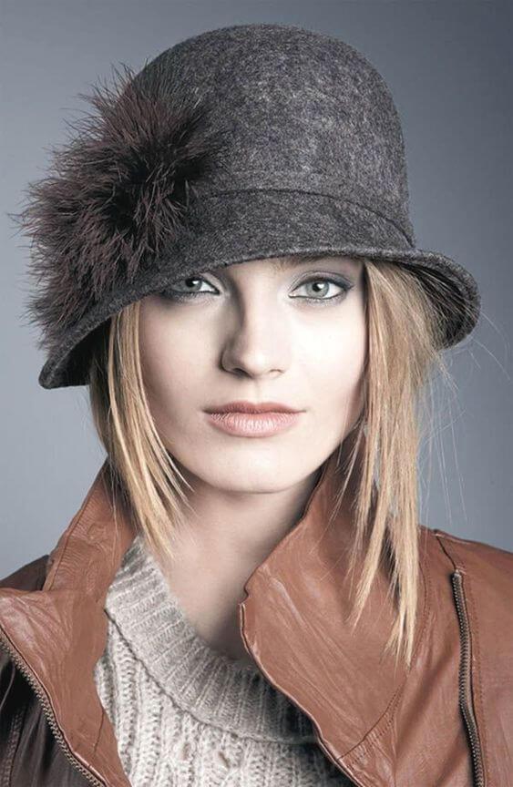 cloche hat for short hair