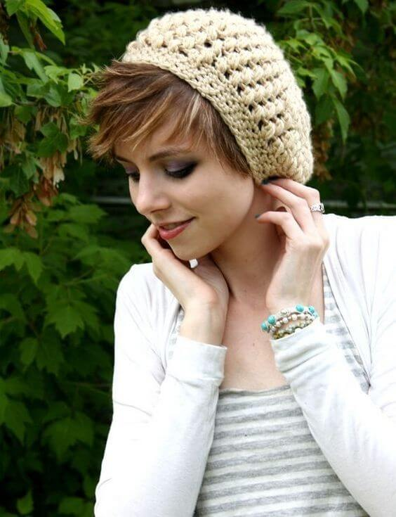 cute knit beanie hats for short hair