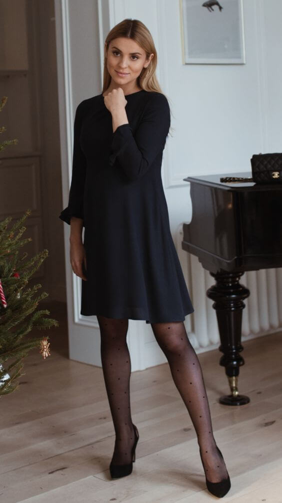 female christmas black dress ideas for chruch