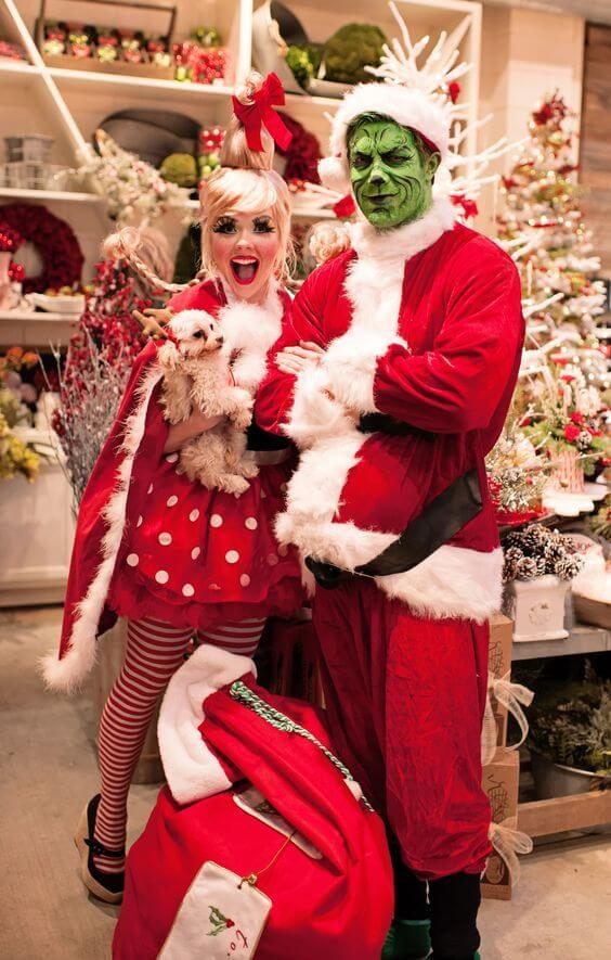 funny grinch and cindy lou who christmas costume ideas for couples
