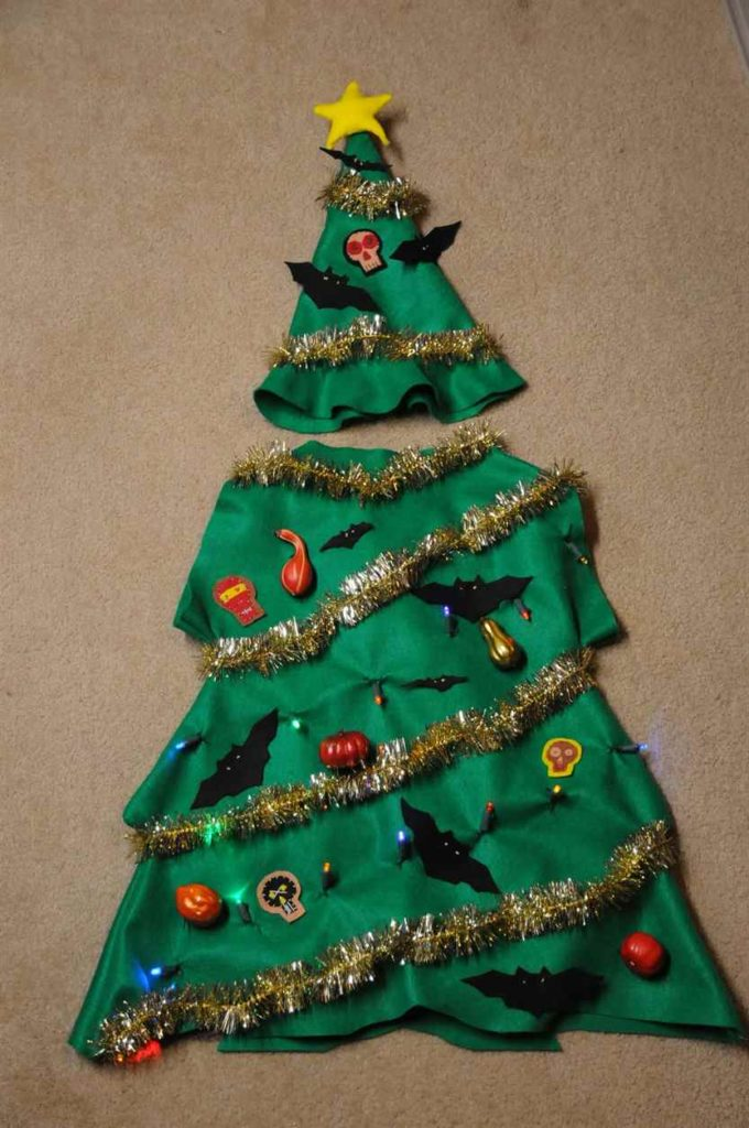 funny handmade christmas tree fancy dress ideas
