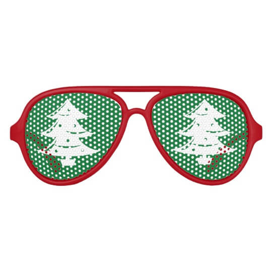 funny xmas tree glasses
