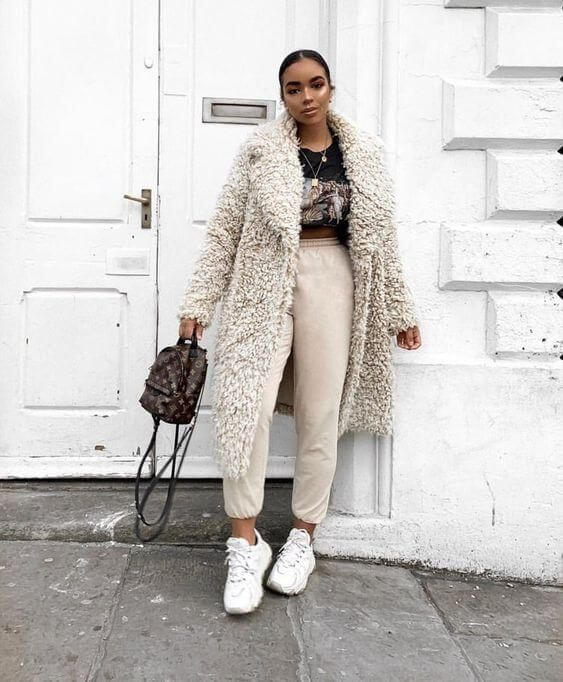 fur coat outfit ideas for winter