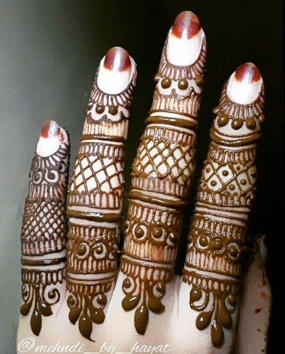 net style mehndi ring designs for fingers