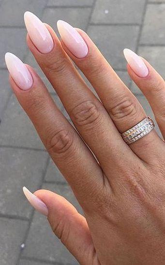 ombre gel coffin nails almond shape